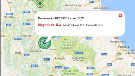 Forti scosse di terremoto tra Lazio e Abruzzo